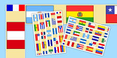 Spanish Speaking Countries Flag Display Border