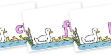 Final Letter Blends on Five Little Ducks