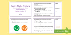 Year 6 Algebra: Generate and Describe Maths Mastery Challenge Cards