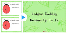 Ladybug Doubling Numbers Up to 12 PowerPoint