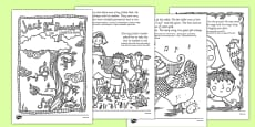 Jack and the Beanstalk Mindfulness Colouring Story Polish Translation