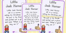 Little Jack Horner Nursery Rhyme Poster (Australia)