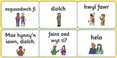 Greetings A5 Flashcards Cymraeg