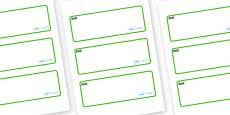 Rock Pool Themed Editable Drawer-Peg-Name Labels (Blank)