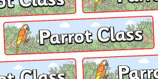 Parrot Themed Classroom Display Banner