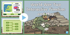 World War Two Interactive Timeline and Map PowerPoint