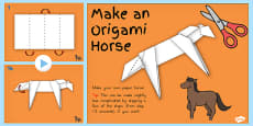 Australia - Chinese New Year Origami Horse Instructions Activity PowerPoint