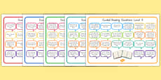 Levelled Guided Reading Question Mats