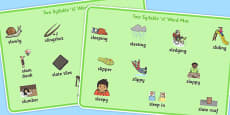Two Syllable SL Sound Word Mats