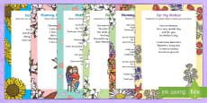 Mother's Day Songs and Rhymes Resource Pack