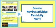 Year 4 Early Morning Science Activities Electricity