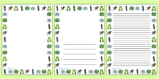 Frog Life Cycle Full Page Borders