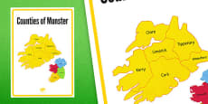 Counties of Munster Display Poster