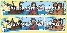 Christopher Columbus Display Banner