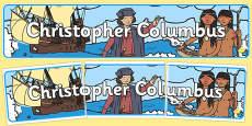 Christopher Columbus Display Banner