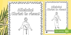 Alleluia, Christ is Risen Colouring Page