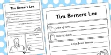 Tim Berners-Lee Significant Individual Writing Frame