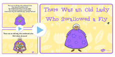 There Was an Old Lady Who Swallowed a Fly Song PowerPoint
