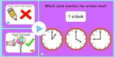 Clock Matching PowerPoint Version 2