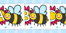 A-Z Alphabet on Bumble Bees