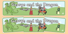 St George and the Dragon Display Banner Arabic Translation