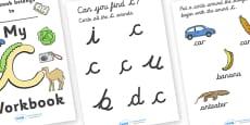 My 'c' Workbook (cursive)