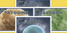 Space Wars Party Planet Posters