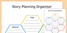 KS3 Story Planning Honeycomb Graphic Organiser