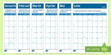 Calendar 2017 cu 12 pagini