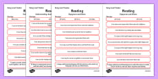 CfE Child Friendly Tracking Early Level Reading