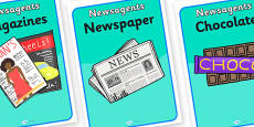 Newsagents Role Play Posters