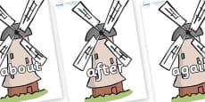 KS1 Keywords on Windmills