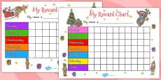 Australia - Christmas Themed Reward Chart