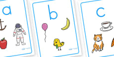 Alphabet Picture Display Posters Lowercase