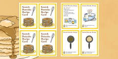 Scotland Scotch Pancake Recipe Card