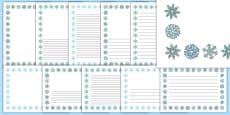 Snowflake Portrait Page Borders