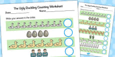 Ugly Duckling Counting Sheet