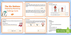 Developing Reasoning Through the Six Nations 2017 Challenge Cards