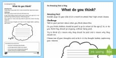 What Do You Think? Activity Sheet