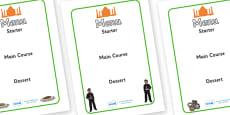 Indian Restaurant Role Play Menu Creation