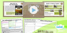PlanIt - History KS1 - War and Remembrance Lesson 3: Life on the Front Line Lesson Pack