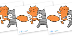 Modifying E Letters on Cats to Support Teaching on What the Ladybird Heard