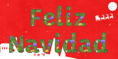 Merry Christmas Display Lettering Spanish