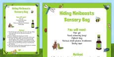 Hiding Minibeasts Sensory Bag