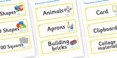 Diamond Themed Editable Classroom Resource Labels