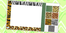 Animal Pattern Editable PowerPoint Background Template