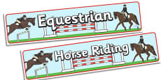The Olympics Equestrian Display Banner