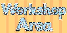 Workshop Area Display Lettering