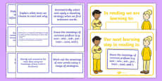 New Zealand Reading 4th Year of School WALT, Learning To and Next Steps Display Posters