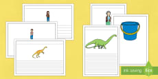 Writing Frames to Support Teaching on Harry and the Bucketful of Dinosaurs